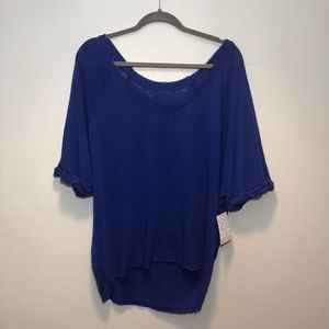 NWT Free People Moonlight Tee Cobalt Size M